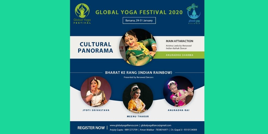 Experience the cultural panorama with 'Bharat Ke Rang' with the world-renowned classical performers of the worldStay tuned for more #GlobalYogFestival #YogaFestival #GlobalYogAlliance #IndianCulture #ClassicalDance #Yoga #Yogaeverydamnday