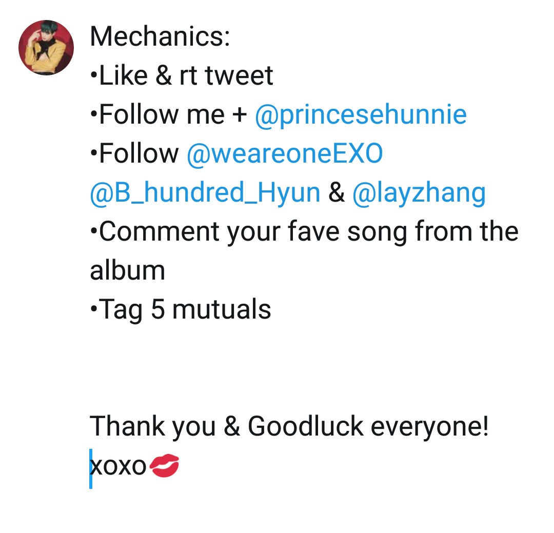 """EXO """"OBSESSION"""" ALBUM GIVEAWAY ♡  Since our birthday is coming up next week, @princesehunnie & I will be giving away one Album to a lucky Phixo.  •1 winner •PH ONLY •X-EXO version (w/ pc & poster) •Ends on December 12 •Announcement: TBA  To enter: check below<br>http://pic.twitter.com/ztSL2Fk66n"""