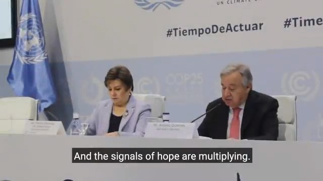 The human species has been at war with the planet.Now the planet is fighting back.Climate change has escalated into a global climate emergency.But my message at #COP25 is not one of despair, but one of hope and successful #ClimateAction. http://bit.ly/2LdemeL