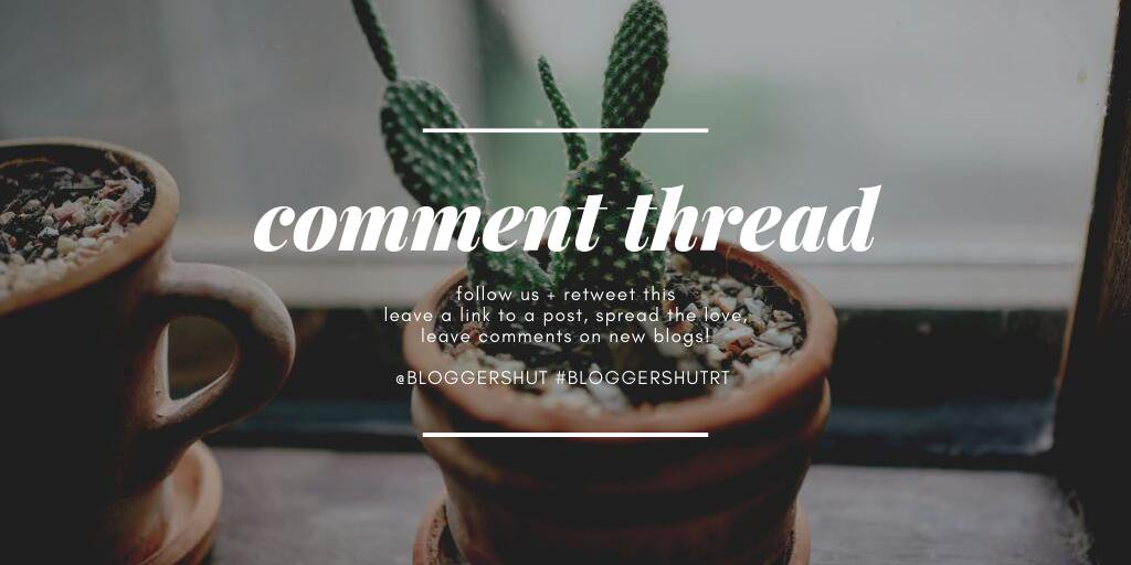 THE BH COMMENT THREAD   Let's support each other~  Spread the love and share your blog posts.  #BloggersHutRT #bloggerswanted <br>http://pic.twitter.com/s9HGGK57HC