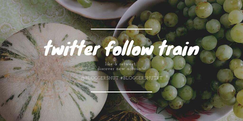 TWITTER FOLLOW TRAIN   Leave your handles and follow each other, spread the love!  #BloggersHutRT #bloggerswanted <br>http://pic.twitter.com/o0VA5Mb8Xl