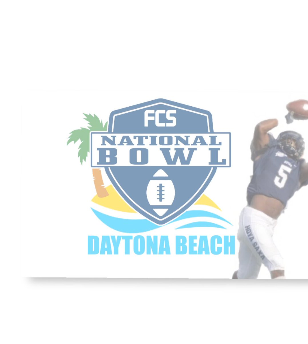 Catch me this weekend in Daytona playing in the FCS National Bowl #IGot5On5 @HoyasFB @PatriotLeague @FCSBOWL