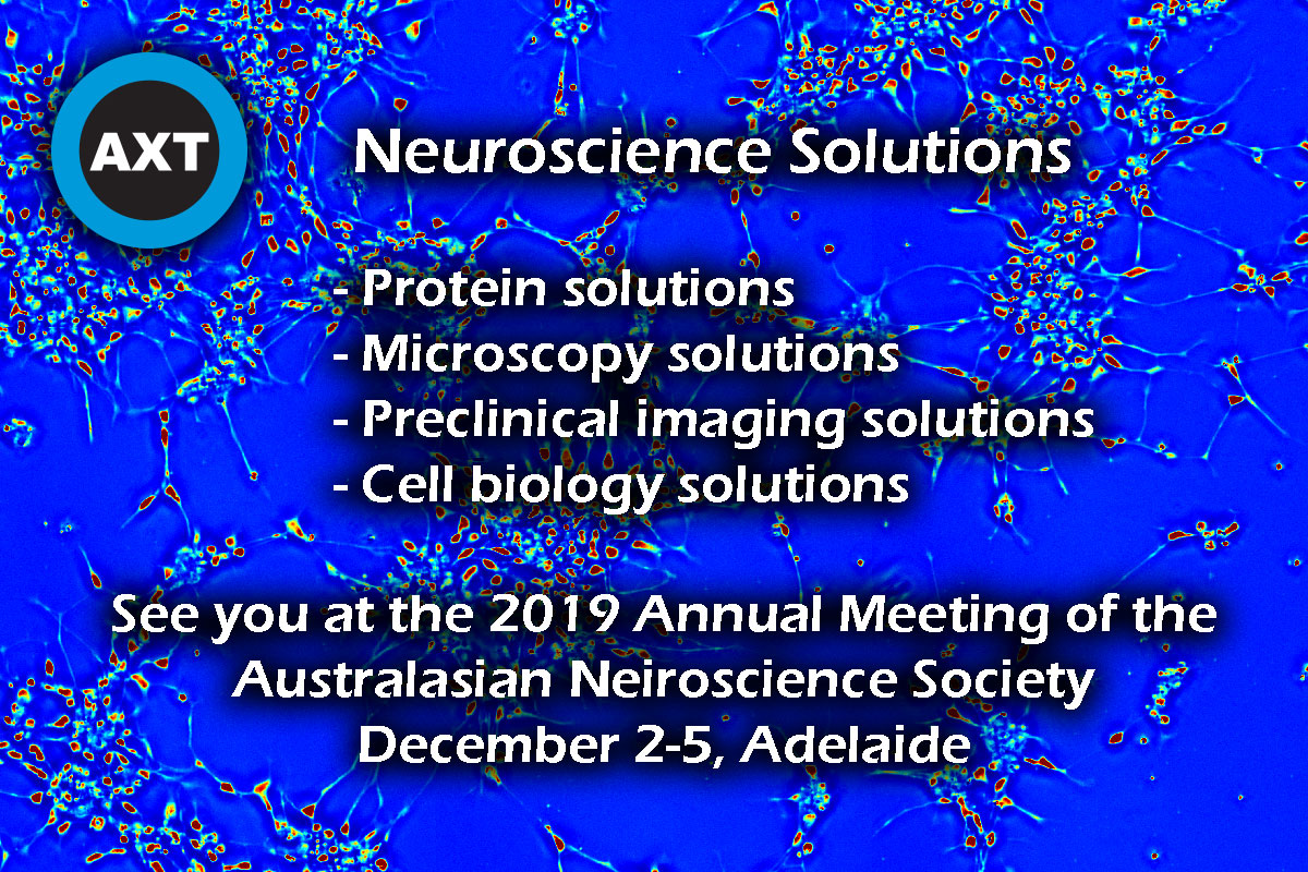Phi Optics at 2019 Meeting of the Australasian Neuroscience Society – AXT Pty Ltd booth, December 2-5, 2019
