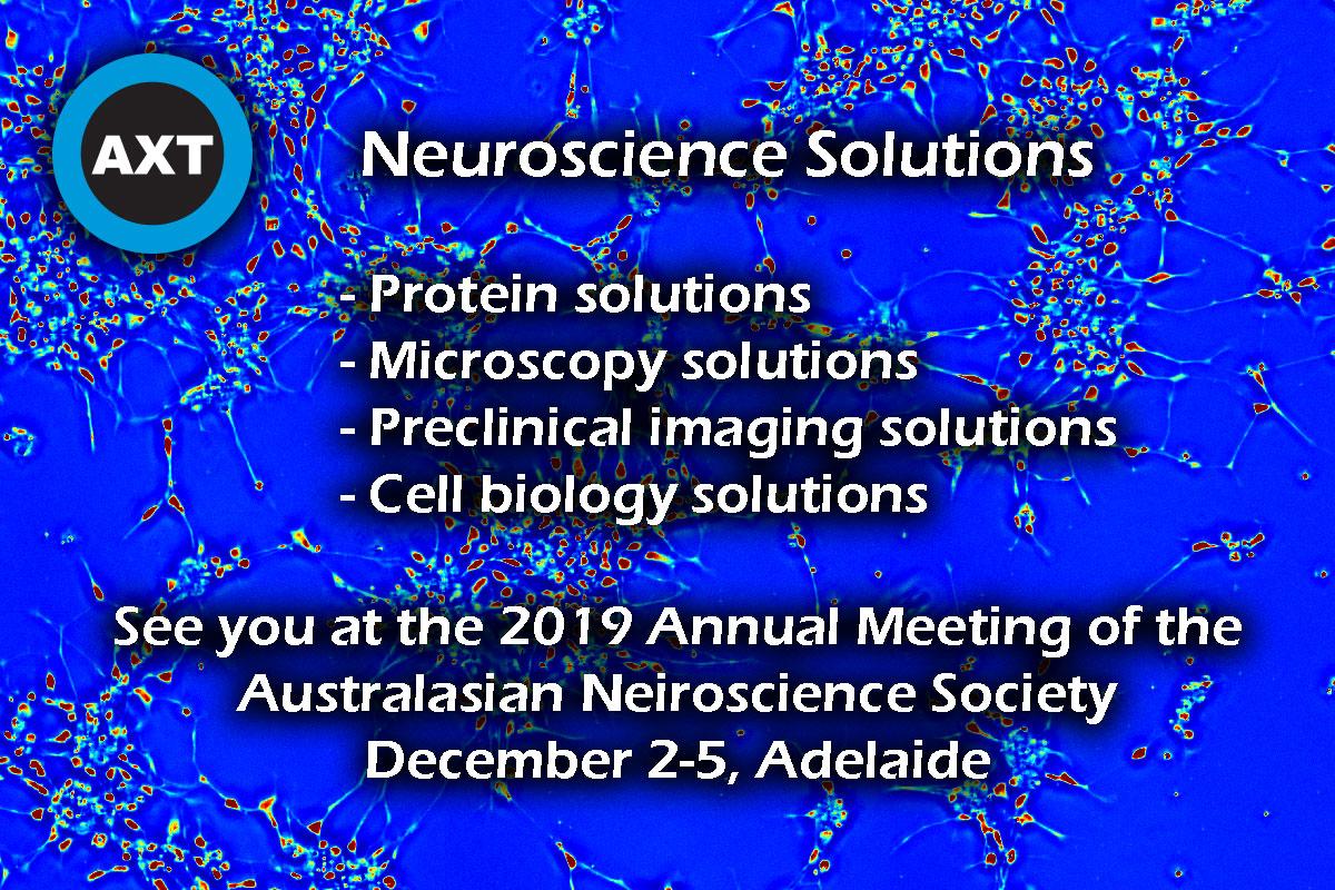 Phi Optics at 2019 Meeting of the Australasian Neuroscience Society – AXT Pty Ltd booth, December 2-5, 2019