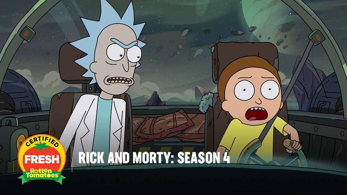 #RickandMorty: Season 4 is now #CertifiedFresh at 100% on the #Tomatometer, with 25 reviews: