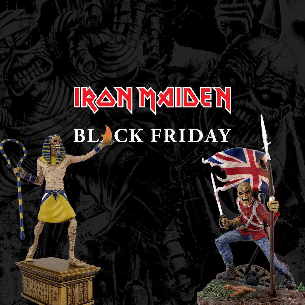 Black Friday is still going, with discounts across the Maiden store - 666.ironmaiden.com/black-friday