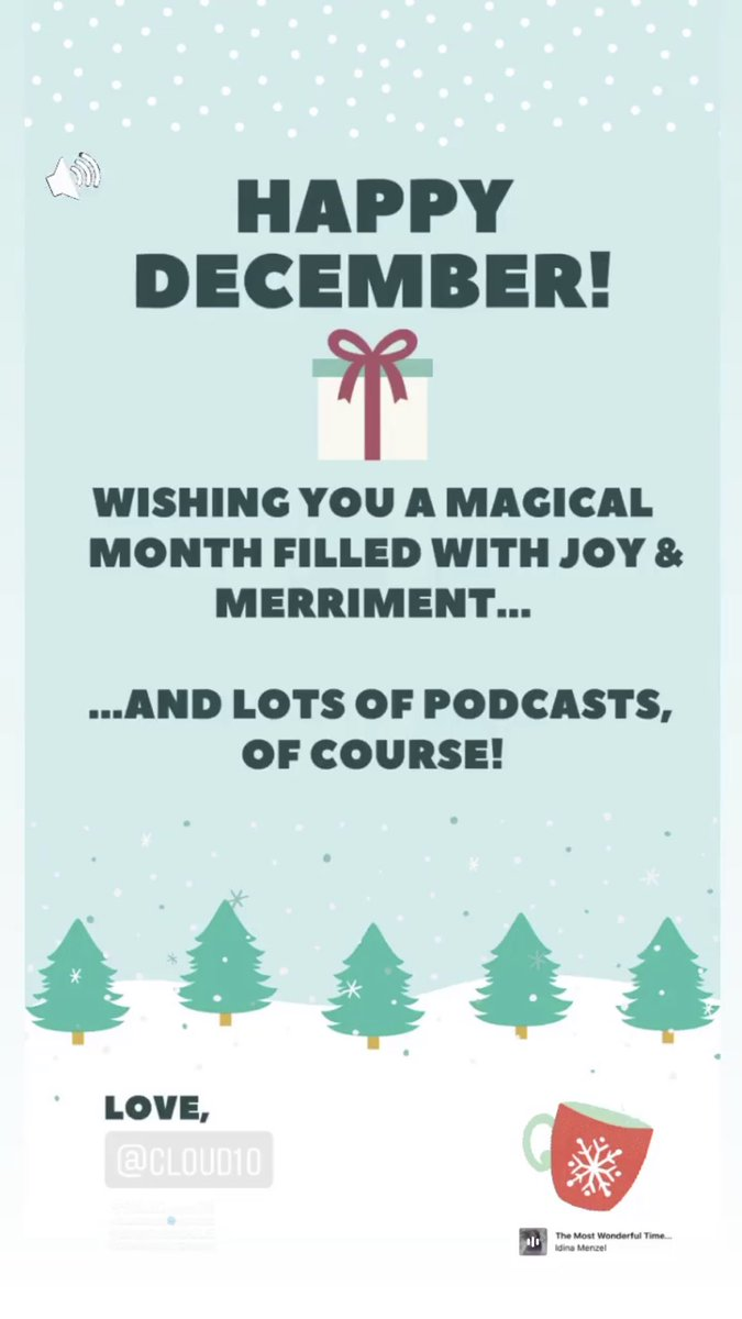 #HappyDecember ❄️⛄️ Love, #Cloud10 #Podcasts @SimSarna #December1st