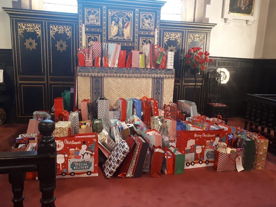 What an amazing donation from the congregation at Prescot Parish Church. For the past few years they have been donating gifts for the families who are homeless over Christmas staying at Yates Court in Prescot. Thank you for making Christmas so much better at such a difficult time
