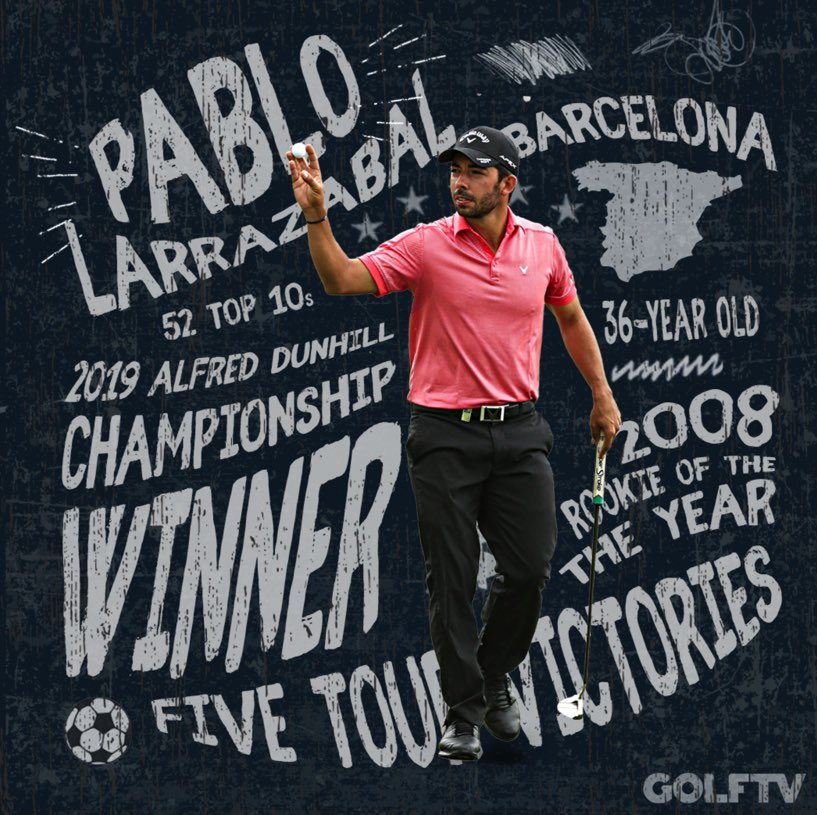VAMOS PABLO 🏆 Spain's @PLarrazabal overcame a front nine 41 and a foot injury to birdie the 72nd hole and win the #DunhillChamps by a single shot. His fifth @EuropeanTour win and first in years.