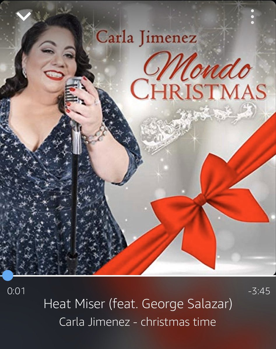 "hello boys and girls and everyone in between!! it be christmas time!! make sure to stan @carlajimenez 's christmas album ""mondo christmas!!"" so so good!!  also i'm officially calling her and mr. @georgesalazar as the new snow and heat miser; there are no others!!  much luv!!! 💙"
