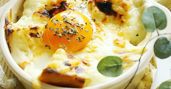 【朝食にオススメ】焼くまで5分!トースターでOK「パングラタン」:…