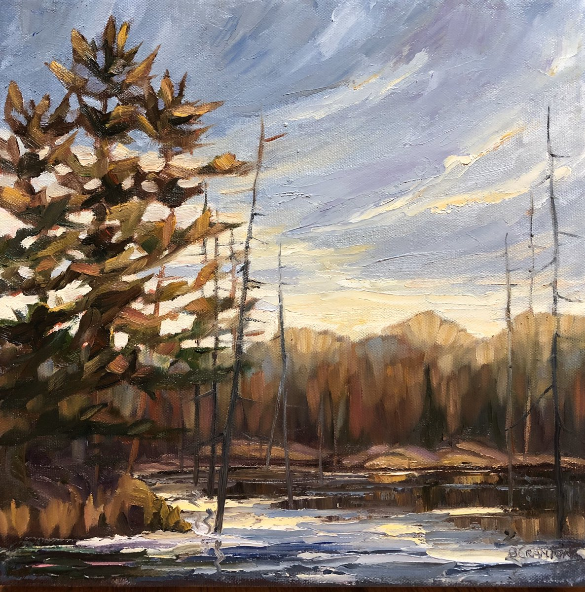 "New work... one of my favourite views off Hwy 400. Autumn in the Archipelago 12/12"" oil #parrysound #autumnmood pic.twitter.com/l9ii9jZDtV"