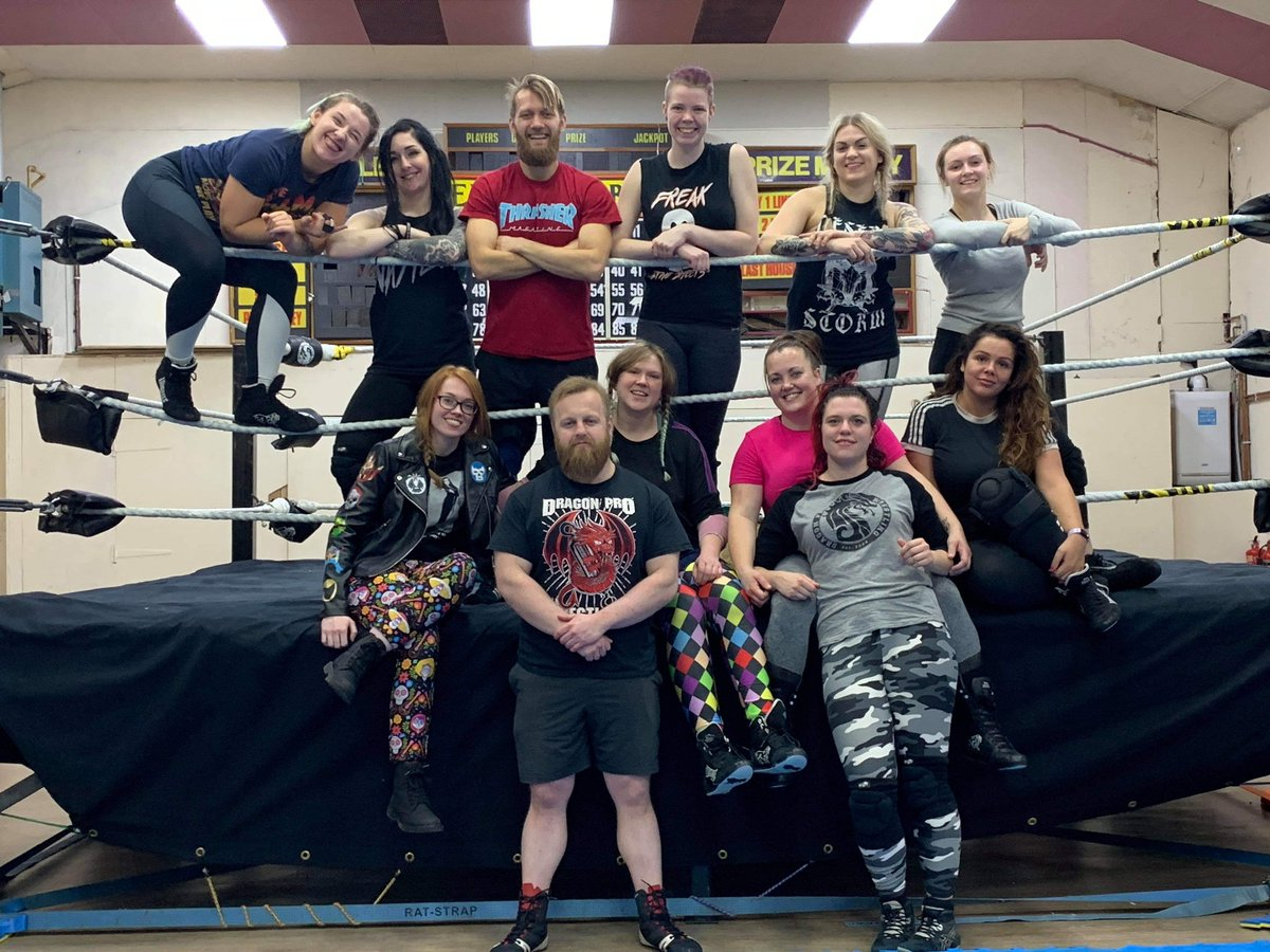 Another fantastic class with our final female exclusive session of 2019With more monthly sessions as part of our mixed gender training schedule 5 times a week at the @UKDragonPro academyWhy not join the #NextWave and register interest /apply at dragonprowrestling@hotmail.com