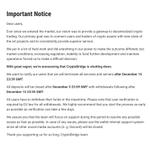 Image for the Tweet beginning: Regret to inform that CryptoBridge