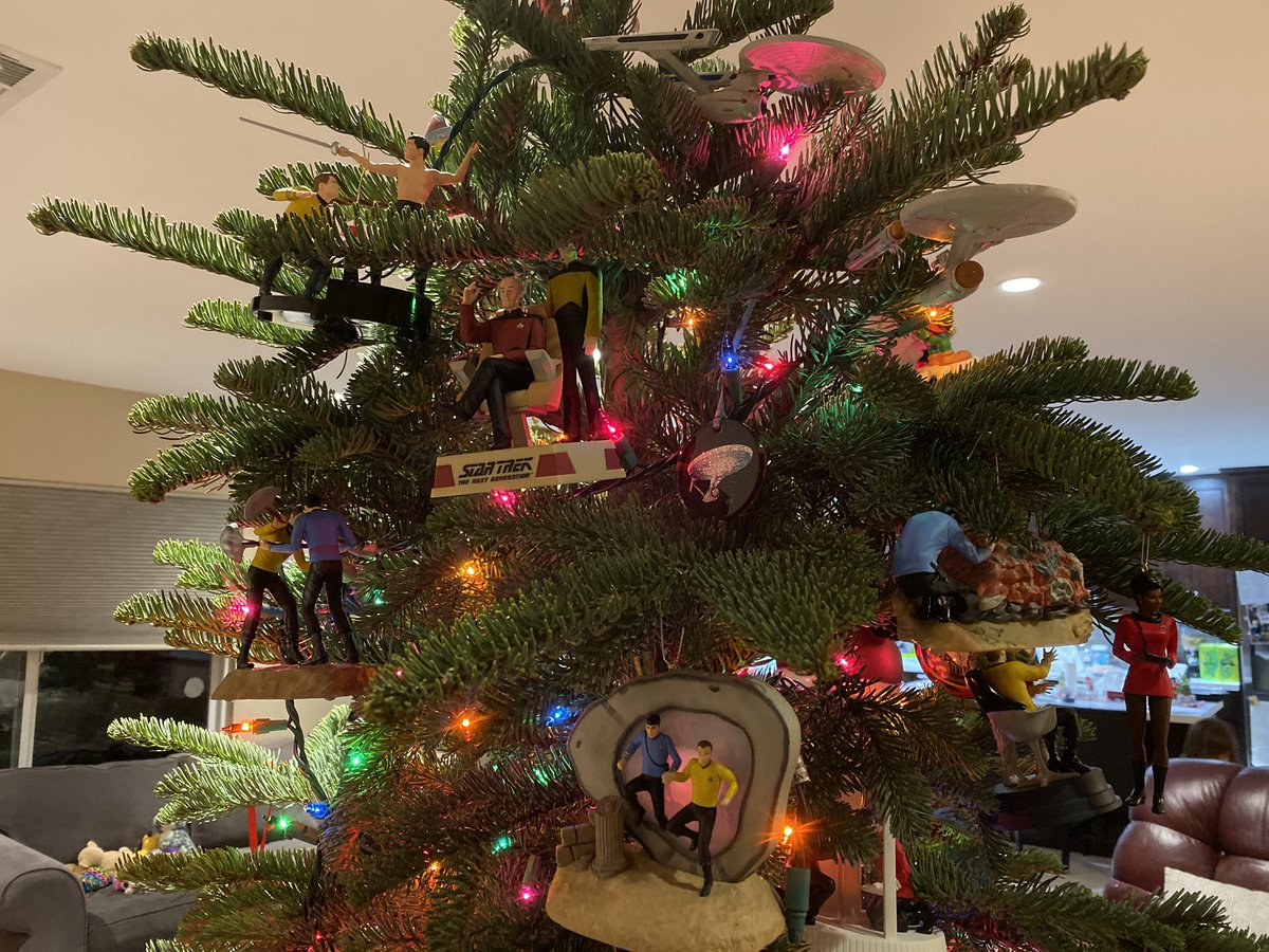 This year, our Christmas tree has 32 @StarTrek ornaments. I think in 2020 these ornaments will have to have their own tree. It's going to be a Merry #Trekmas!