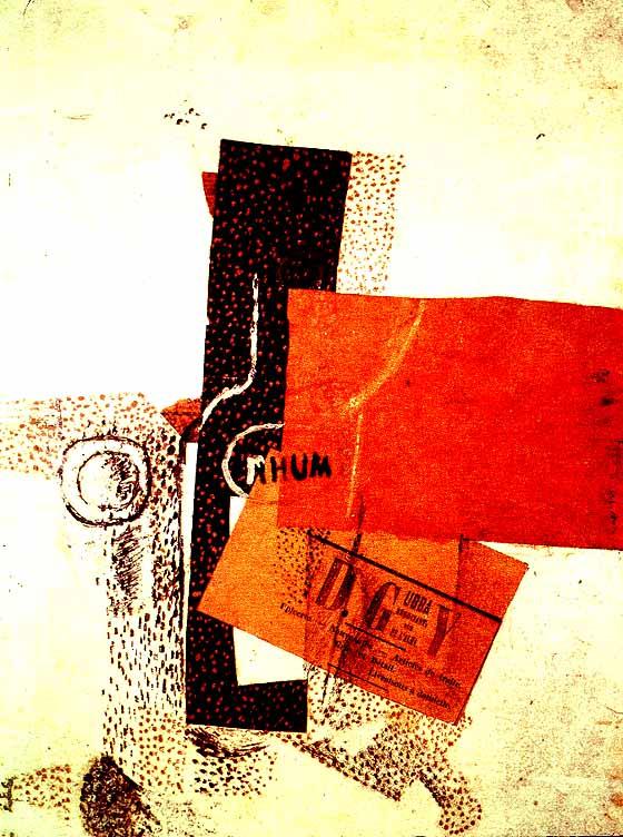 The Bottle of Rum, Georges Braque, 1914  https://www. wikiart.org/en/georges-bra que/the-bottle-of-rum-1914  …  #syntheticcubism #georgesbraque<br>http://pic.twitter.com/Zedpnl9syt