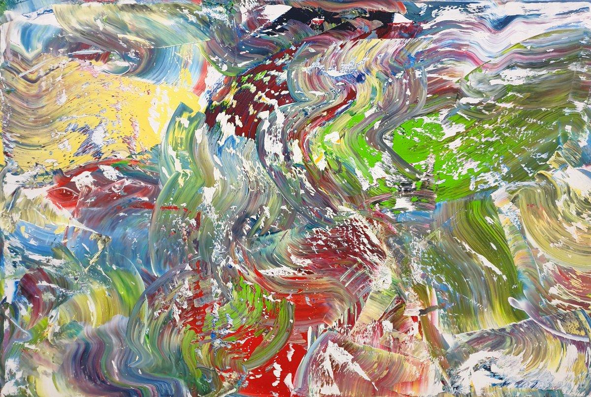 Abstract No. 473, oil on canvas; 120 x 80 x 2 cm. #art #painting #contemporaryart #abstract #abstractart #abstractexpressionism #expressionism #modernart #oilpainting #artist #galleryart #artcollector #artfinder #saatchiart #artoftheday #colorful #singulart @etsy