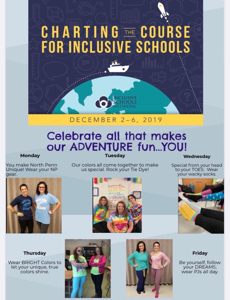 @NWElementary Do Not forget, tomorrow starts Inclusive Schools Week. Show your pride!