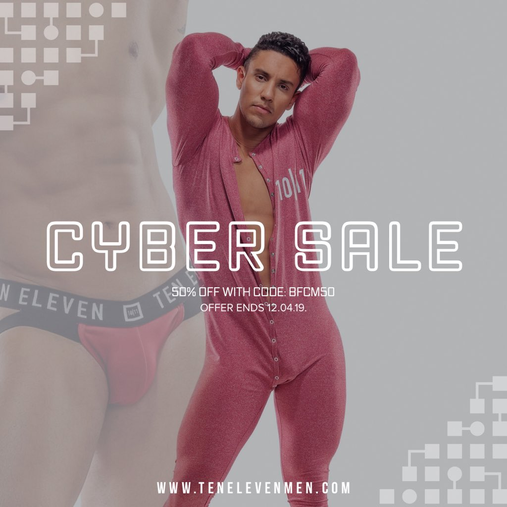 Our Cyber Sale has been extended! Take 50% off your purchase with code: BFCM50  SWIMWEAR. UNDERWEAR. ACCESSORIES. ACTIVEWEAR  Offer ends December 4, 2019 <br>http://pic.twitter.com/x6xbpEsSET