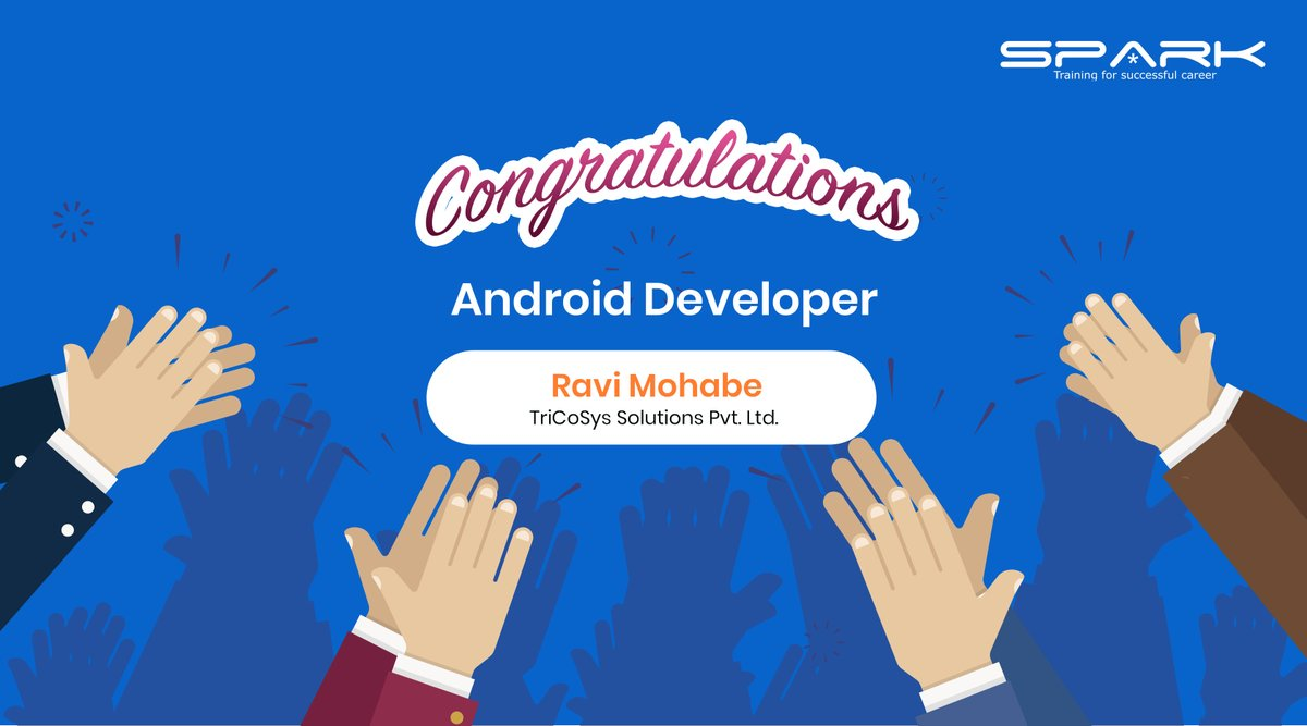 Congratulations Ravi Mohabe placed with TriCoSys Solutions Pvt.  http:// Ltd.as      an #AndroidDeveloper  Congratulations To Team For Your Placement Efforts.  You could be the next ! Apply Now -  https:// urlzs.com/iQNF       #AndroidTraining #AndroidAppDevelopment #spark3e #Pune<br>http://pic.twitter.com/KMnaBgrgrx
