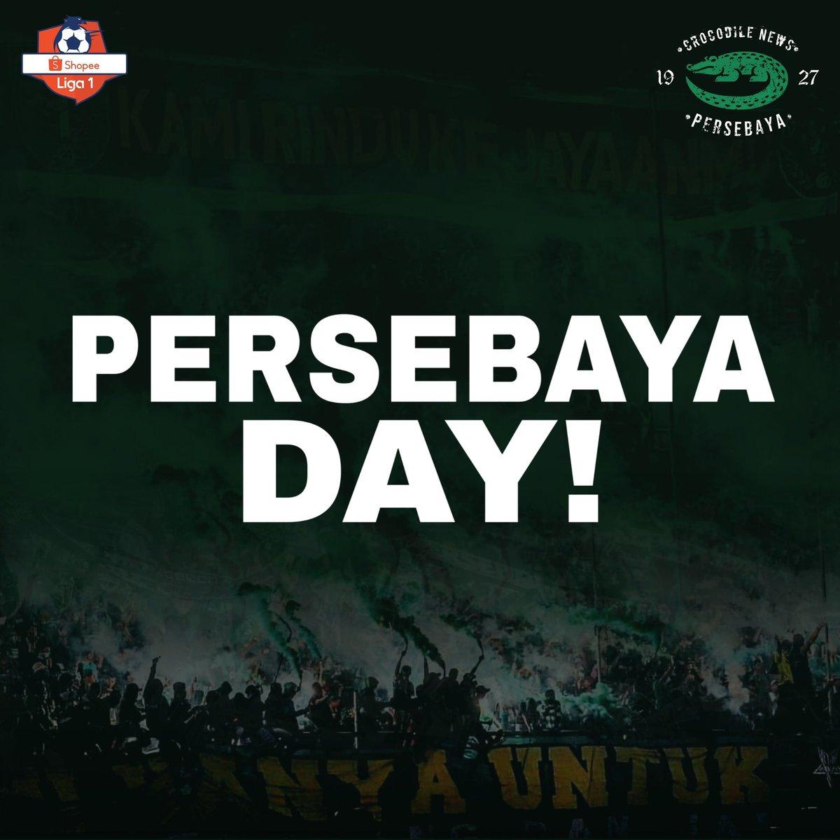 Happy Persebaya Day!  AYO MENANGO CUK, NGEYELO! BISMILLAH 3 POIN DI PULAU GARAM!🙏🔥 #Persebaya #bajolijo #greenforce #CrocodileNews #bonek #bonita