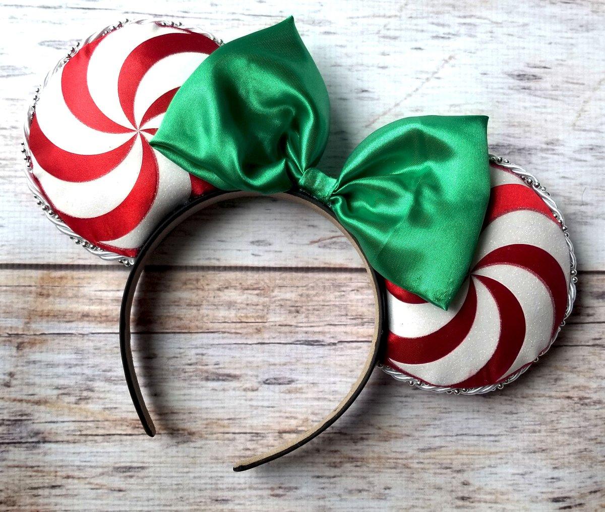Candy Cane Christmas Ears,Mickey Ears,Mickey headband,Minnie Mouse Ears,Custom Ears,Christmas Headband,Tangled Headband  #disneyears #toystoryforkyears