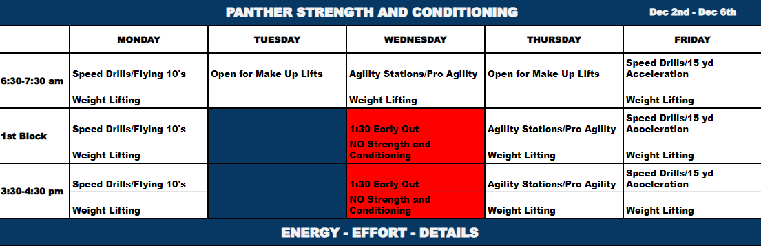 Schedule for the week.  Everyday is an opportunity. #BringyourBest #WeCompete <br>http://pic.twitter.com/vNx44J0o64
