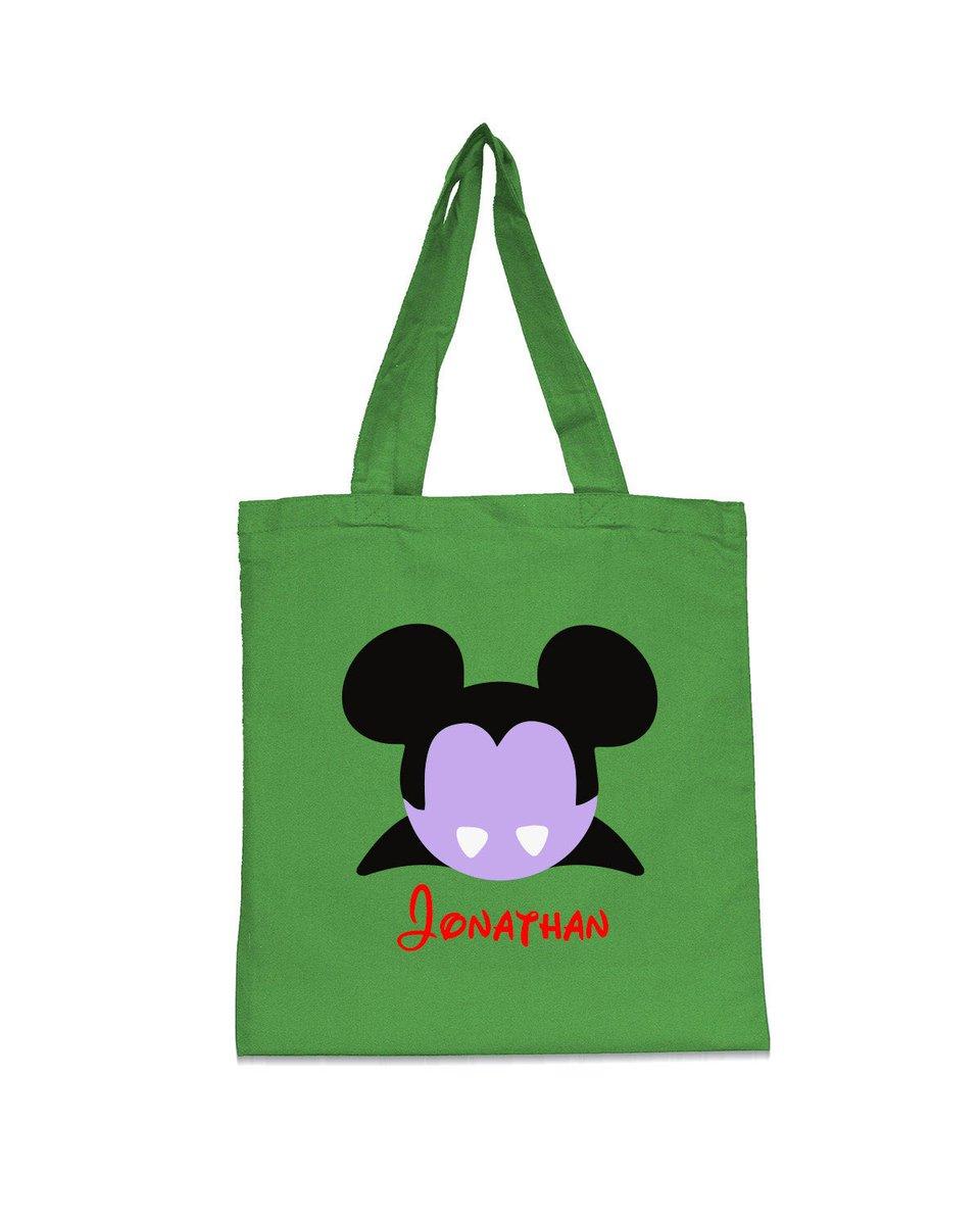 Trick or Treat Bag,Mickey tote bag,Halloween tote bag,Trick or treat tote,Halloween bag,Pesonalized Halloween Bag,Vampire Mickey,Minnie  #disneyears #toystoryforkyears