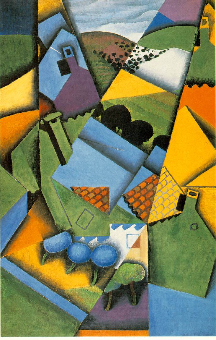 Landscape with house at Ceret, 1913  https://www. wikiart.org/en/juan-gris/l andscape-with-house-at-ceret-1913  …  #syntheticcubism #spanishart<br>http://pic.twitter.com/o8PeHHREUk