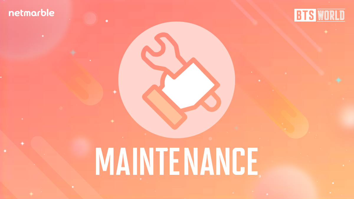 [공지] 게임 업데이트를 위해 BTS WORLD 점검이 진행 될 예정입니다. <점검 시간> 12/3(화) 10:00 ~ 11:30 (KST) 보다 즐거운 서비스를 제공할 수 있도록 최선을 다하겠습니다. [공지 자세히 보기] ▶forum.netmarble.com/btsworld/view/…