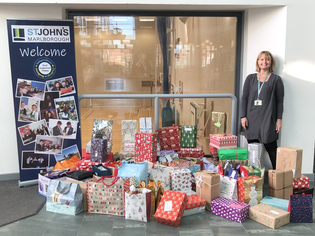 Thank you to all the @StJohnsMarlb students and staff who took part in this year's shoebox & gift bag appeal. We're delighted to have collected over 100 fantastic gift boxes and bags for the amazing Wiltshire charity Helping Victims of Domestic Violence https://t.co/jP5cCB8JoA