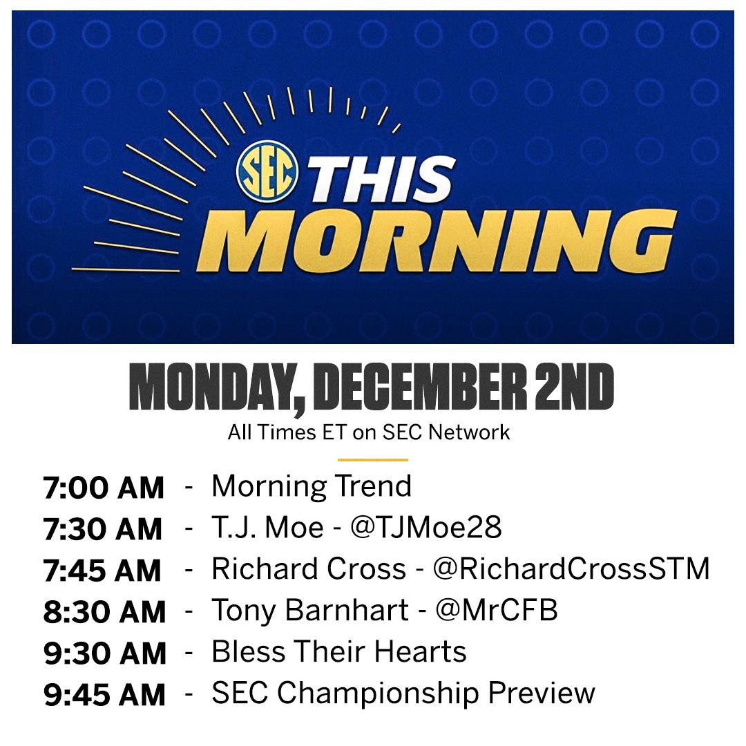 @SECNetwork's photo on #SECThisMorning