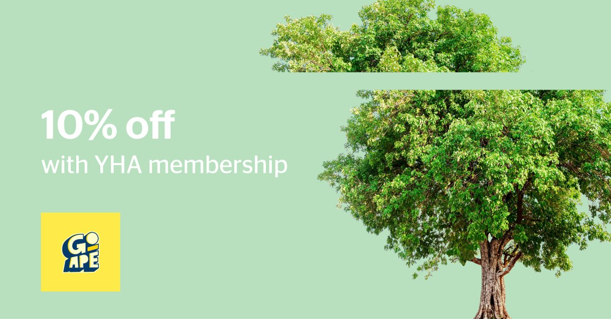 Explore the natural landscape from high up in the trees with another of our amazing YHA member benefits 🌲🌳 As well as amazing hostel discounts, we're offering 10% off at Go Ape!   Purchase your membership today ➡️   #GoApe #discount #YHA #LiveMoreYHA