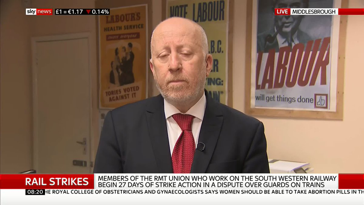 It is the right of working people to withdraw their labour. Shadow Transport Sec @AndyMcDonaldMP says the rail strikes could be avoided but dodges questions on whether he supports secondary picketing. MR #KayBurley at #Breakfast #RMTStrike #SWRStrike