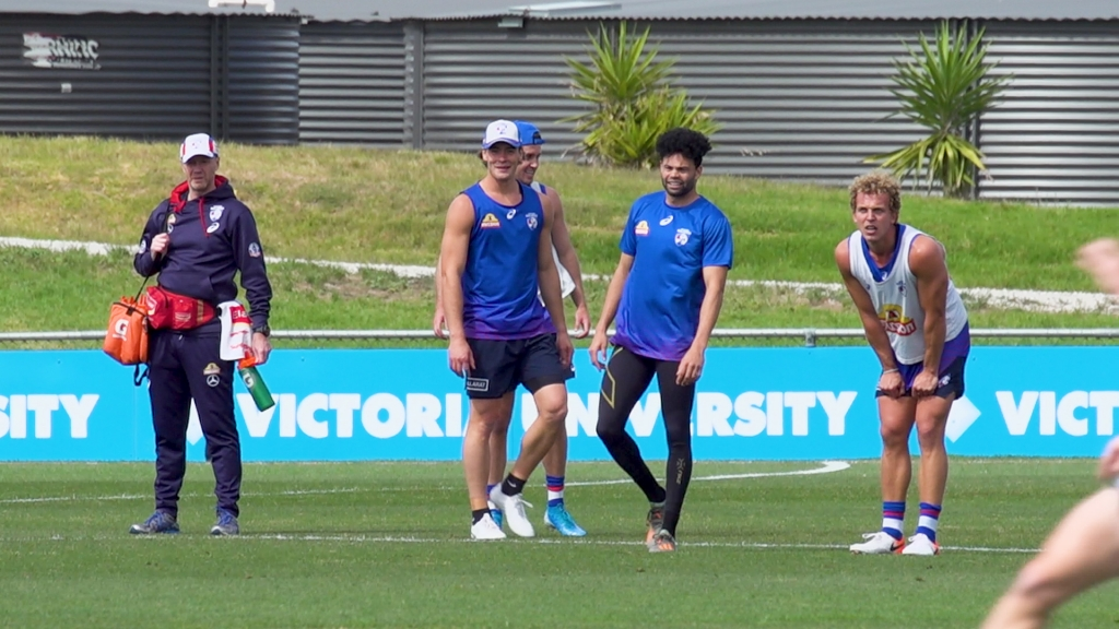 Wholesome content of @jdunks5 getting around the boys on the training track 😍 #MightyWest