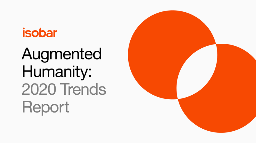 """""""More than ever, creativity has become a brand's greatest differentiator and strategic imperative for business transformation"""" @Jean_linDownload Isobar's 2020 Trends report today. fal.cn/35nPY"""