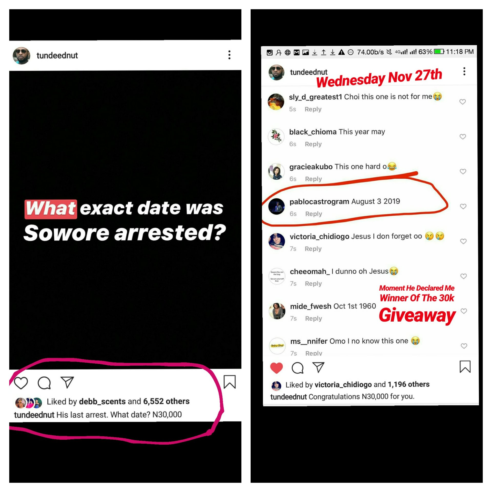 Tunde Ednut Giveaway Is A Scam Man Narrates How He Won But Was Cursed And Blocked Akahi News You can perform both of these actions in the instagram app for smartphones as well as on the instagram website. akahi news