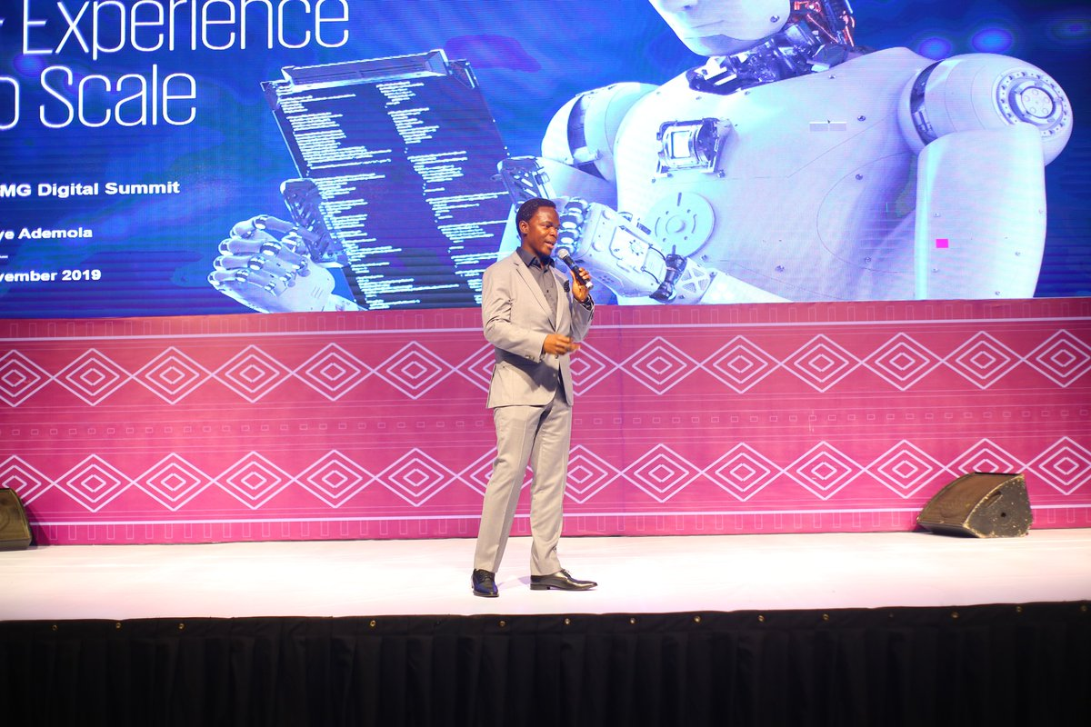 "Quick flashback on the presentation titled ""Leveraging Insights and Experience to Scale"" made by @BoyeAdemola, Partner & Lead for Digital Transformation, @KPMGAfrica, at the #KPMGDigitalSummit2019, KPMG in Nigeria. #KPMGAfrica #KPMGNigeria #KPMGDigital #KPMGDigitalTransformation https://t.co/SJe77B9w8e"