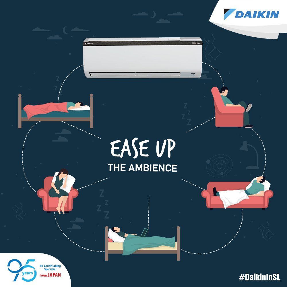 Whether it's humid or it's hot, win over the weather with #Daikin  Air Conditioners. Enjoy a comfortable environment every day, in every season. #DaikinInSL  #SriLanka