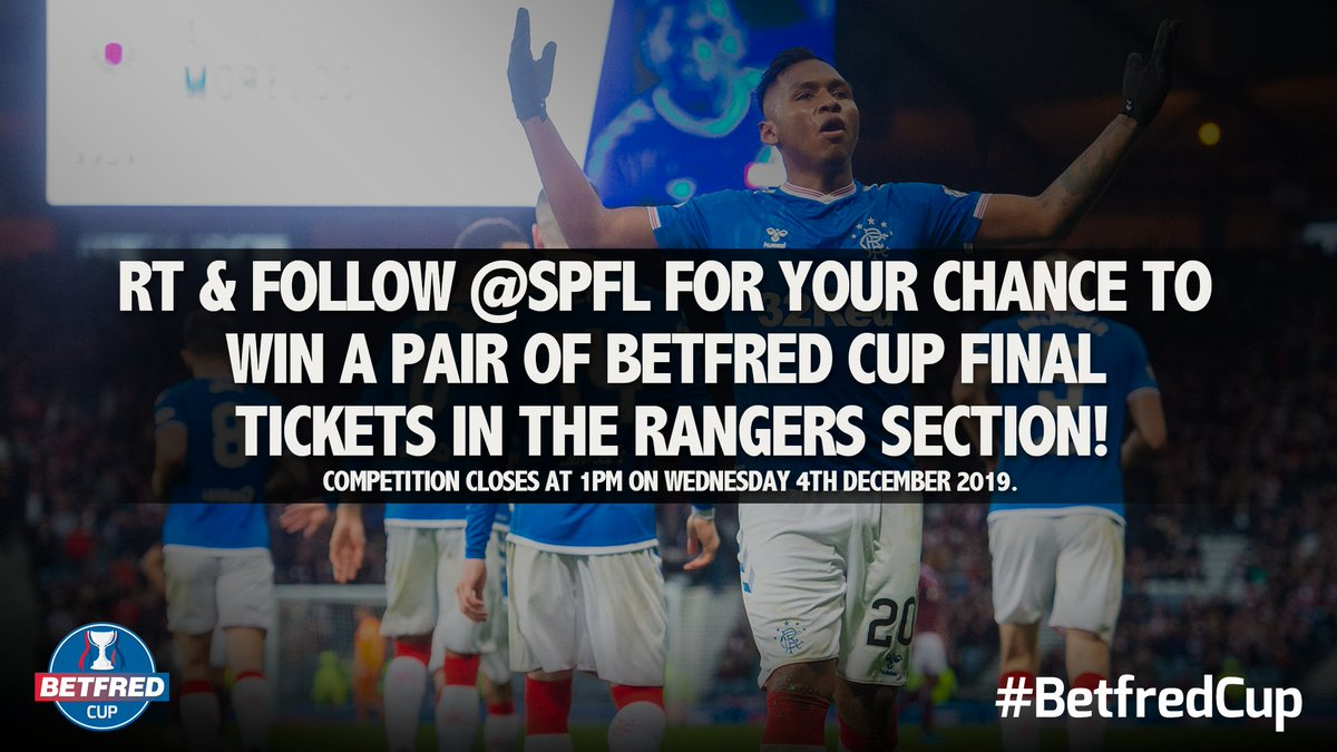 🎫⚽ COMPETITION TIME! Weve got a pair of #BetfredCup Final tickets for @RangersFC fans! RT and follow for a chance to win!