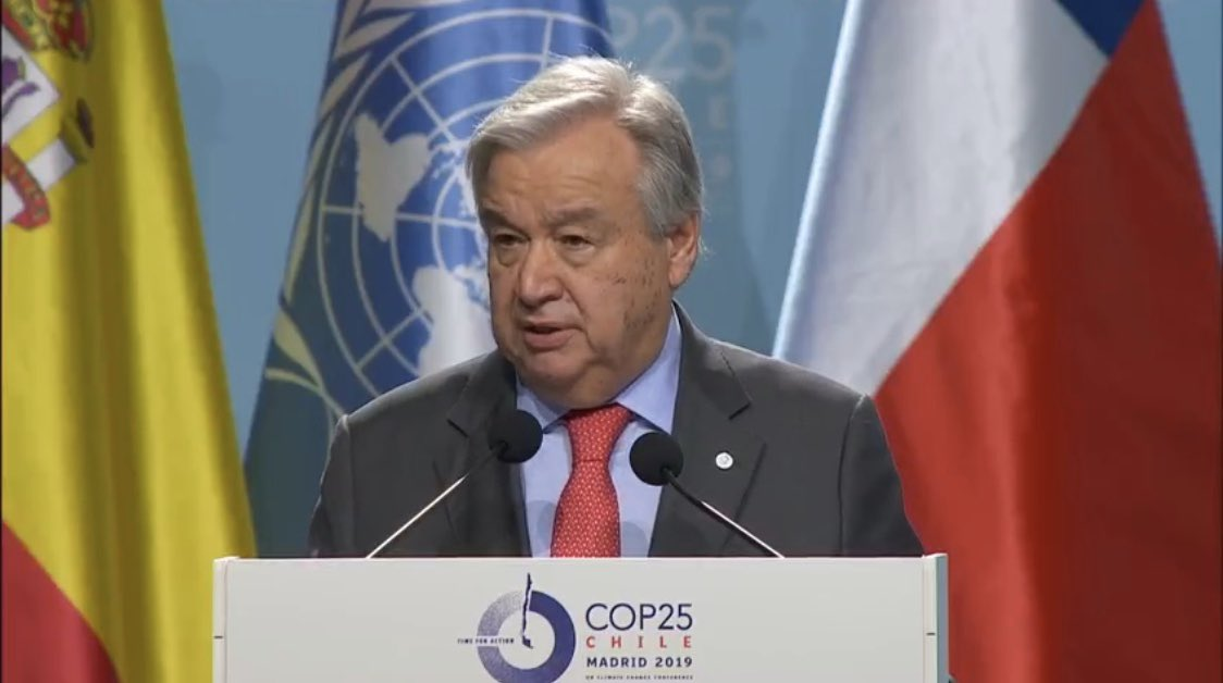 To address the climate emergency, we need a rapid & deep change in how we do business, how we generate power, how we build cities, how we move and how we feed the world.If we don't urgently change our way of life, we jeopardize life itself. #COP25