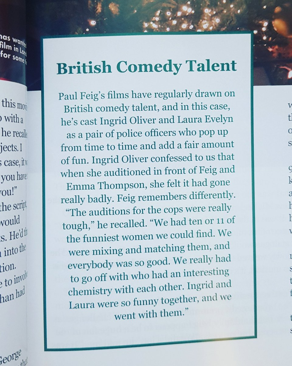 What a lovely shout out for Laura!