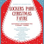 Ho ho ho! The Friends of Lockers Park are looking forward to welcoming everyone to the Christmas Fayre this coming Saturday 7th December, 11am-1pm. 🎅🎄😀 #ChristmasIsComing #Christmas2019