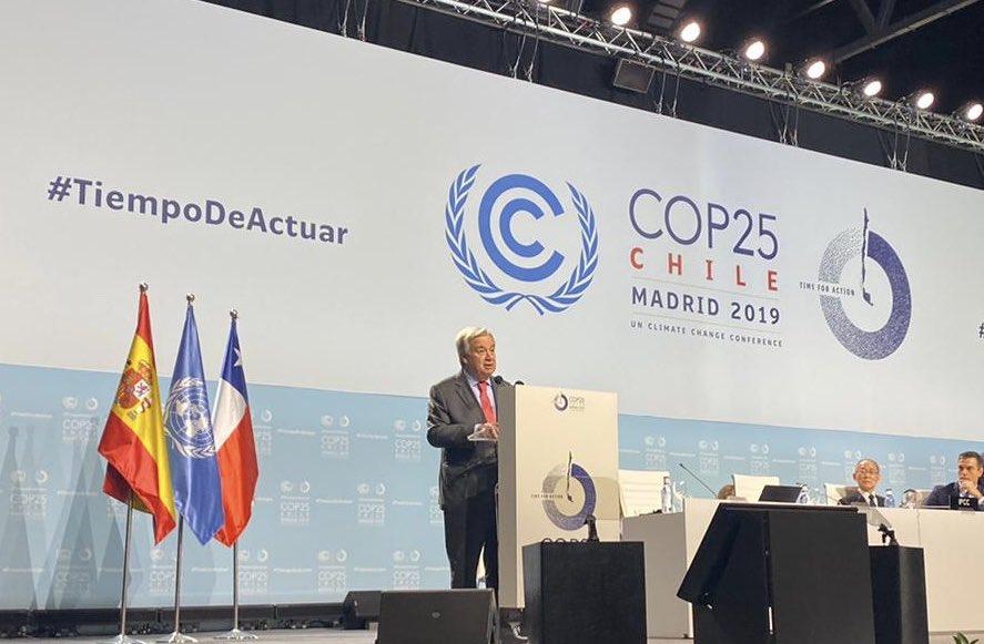 In several regions of the world, coal power plants continue to be built in large numbers. Either we stop this addiction to coal or all our efforts to tackle the climate crisis will be doomed. We need ambitious #ClimateAction now. My remarks at #COP25: http://bit.ly/2rPd8PW