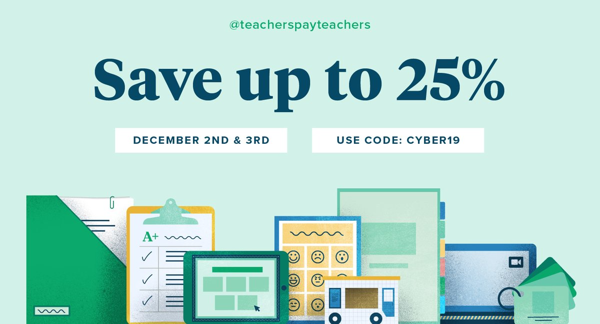 Teachers Pay Teachers On Twitter Get Ready To Shop We Re Celebrating With A 2 Day Cyber Sale On December 2nd And 3rd Save Up To 25 On Tpt Resources For Your Classroom Use