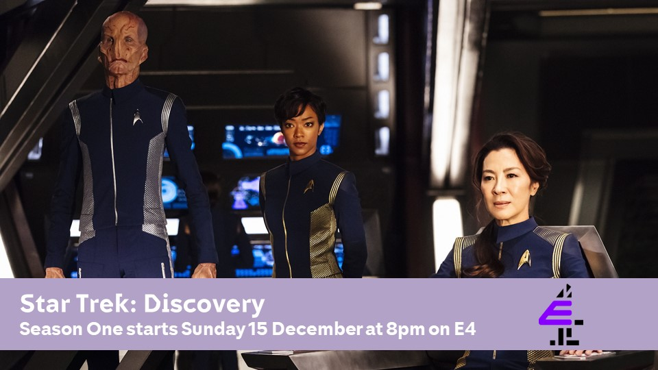 Beam us up! Star Trek: Discovery Series 1 will launch on @E4Tweets on Sunday 15th December at 8pm. It follows a day dedicated to all things #StarTrek on the channel. #startrekdiscovery 🖖