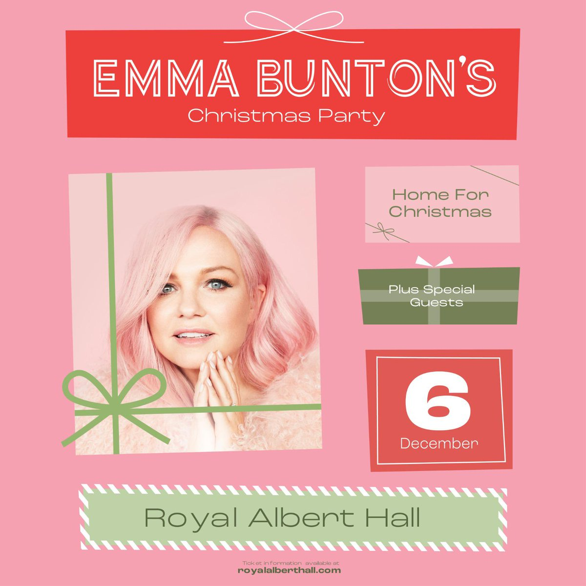 Check out my good friend @EmmaBunton @RoyalAlbertHall on the 6th December, tickets here royalalberthall.com/tickets/events…