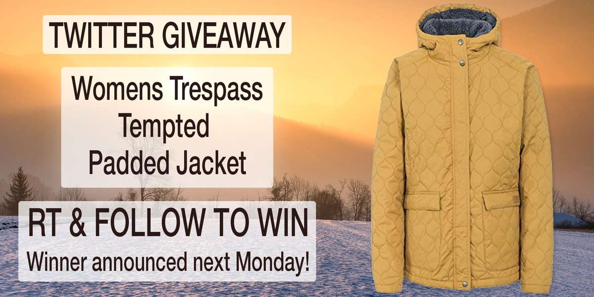 #Trespass Womens Tempted #Padded Jacket #Giveaway! #Follow & RT to #win! Ends 09/12 #competition #prize #compers #contest #prizes #comping #prizedraw #MondayMotivation #CyberMonday<br>http://pic.twitter.com/lqltbG8qtN