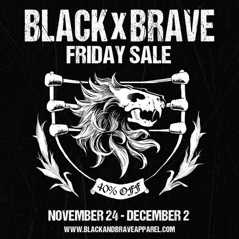 🚨 Last chance! 🚨 Take 40% off of your entire order at http://www.blackandbraveapparel.com on this #CyberMonday!Today is the last day of the sale, so don't get left out in the cold! ❄#BlackandBraveFriday