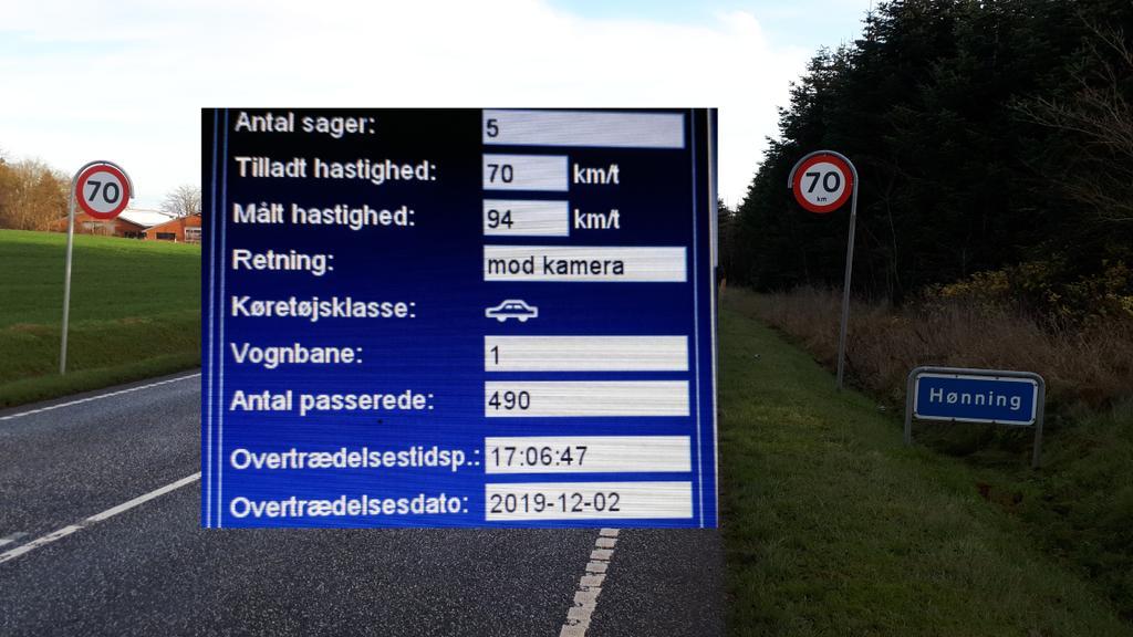 5 bilister kørte for stærkt, forbi fotovognen i Hønning på Rømøvej i Tønder kommune. Dette er vores fokusstrækning hvor vi vil måle oftere end andre steder, den hurtigste kørte 94 km/t #atkdk #politidk https://t.co/yoiI2ISudX